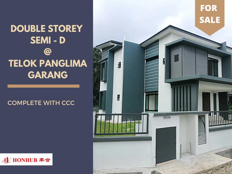 Lot 11229, Double Storey Semi - D @ Telok Panglima Garang