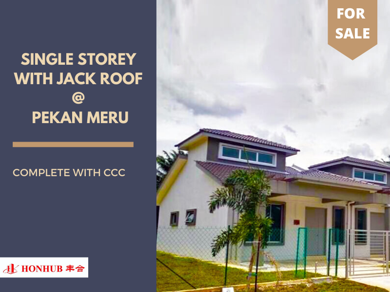 Lot 4701 & 4702, Single Storey with Jack Roof @ Pekan Meru