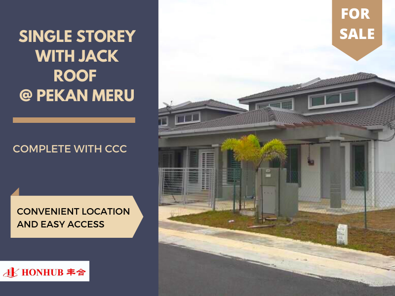 Lot 4725, 4726 & 4727 Single Storey with Jack Roof @ Pekan Meru