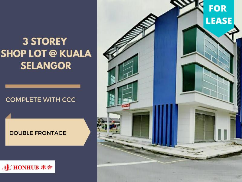 Lot 73, Kuala Selangor 3 Storey **Double frontage