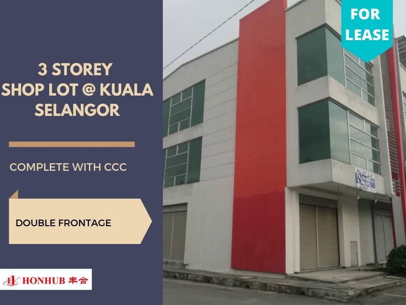Lot 75 Kuala Selangor 3 storey **Double frontage