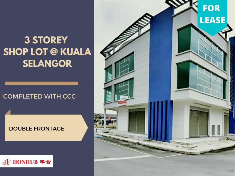 Lot 73 Kuala Selangor 3 storey Double Frontage
